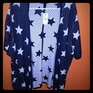 NWT Navy and Cream Star Overpiece 22/24